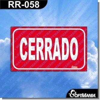 Lee el articulo completo Rotulo Prefabricado - CERRADO / CLOSE